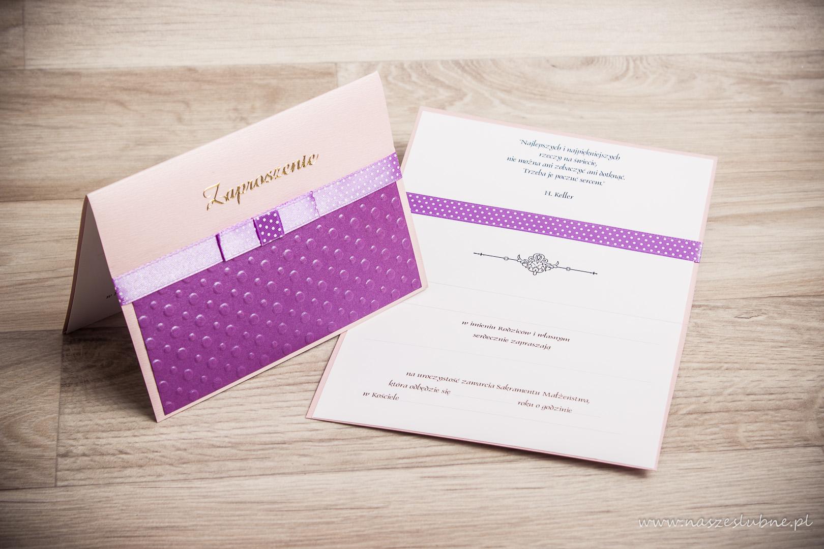 Zaproszenia ślubne – do ręcznego wypisywania: wzór nr 4