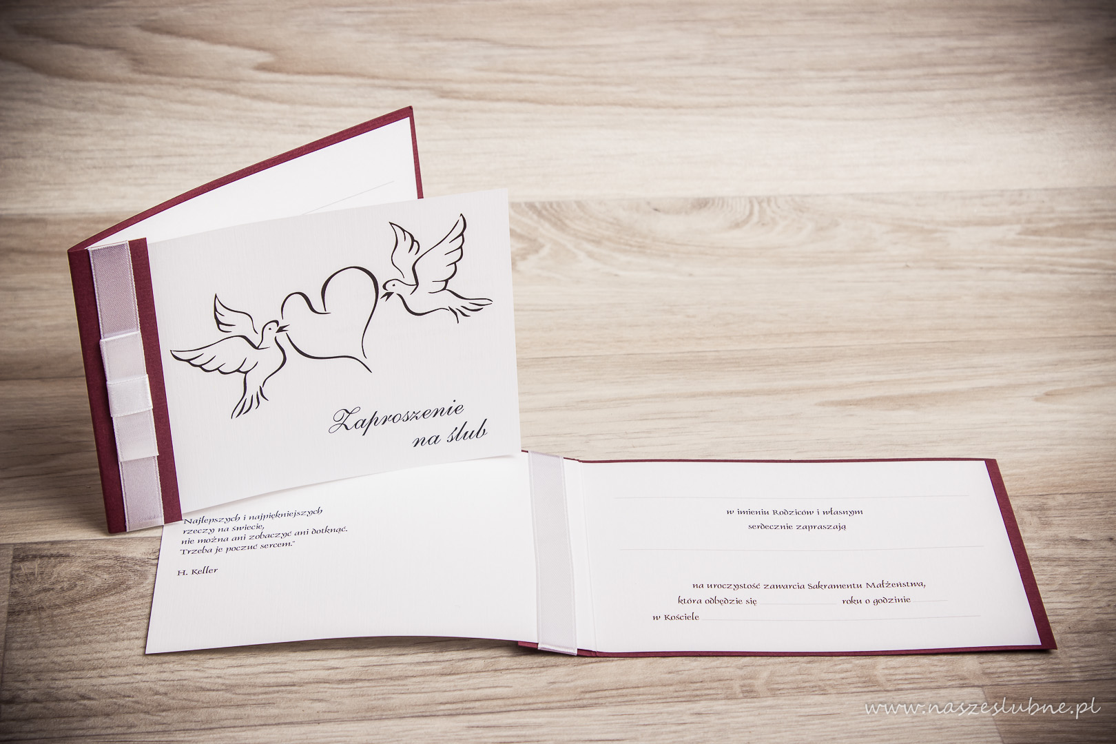 Zaproszenia ślubne – do ręcznego wypisywania: wzór nr 3