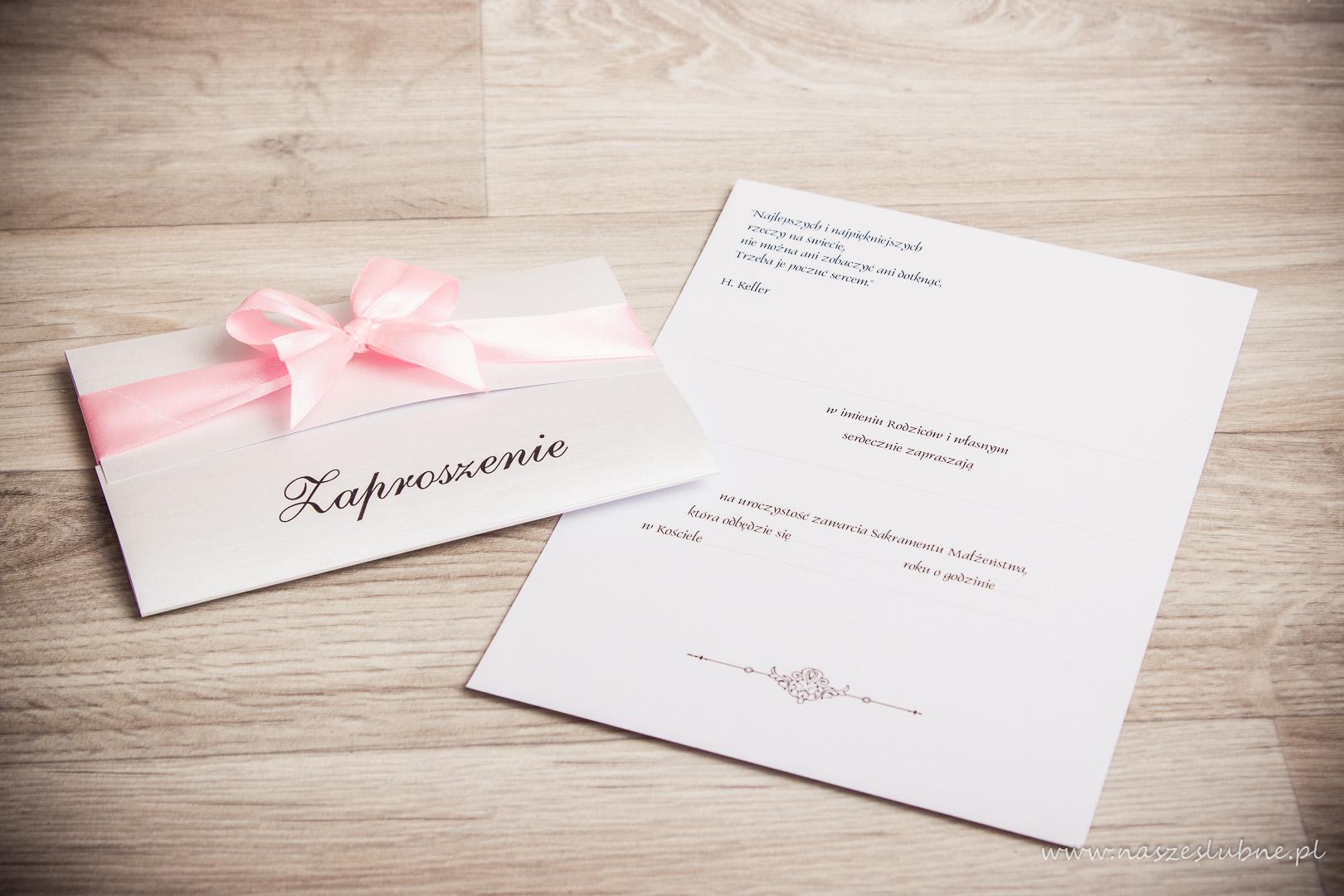 Zaproszenia ślubne – do ręcznego wypisywania: wzór nr 2