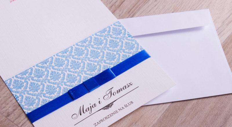 Zaproszenia ślubne – KORONKOWE: wzór nr 3