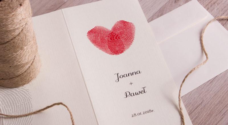 Zaproszenia ślubne – EKO: wzór nr 1