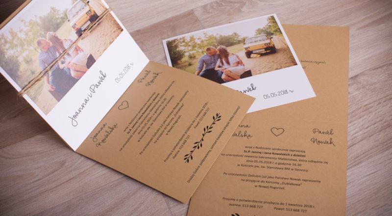 Zaproszenia ślubne – EKO: wzór nr 4
