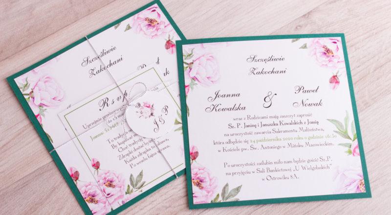 Zaproszenia ślubne – W KWIATY: wzór nr 4