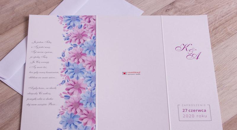 Zaproszenia ślubne – W KWIATY: wzór nr 7