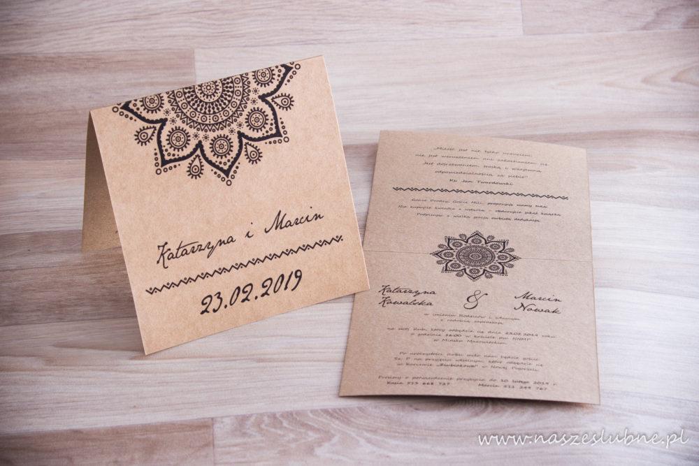 Zaproszenia ślubne - EKO: wzór nr 5