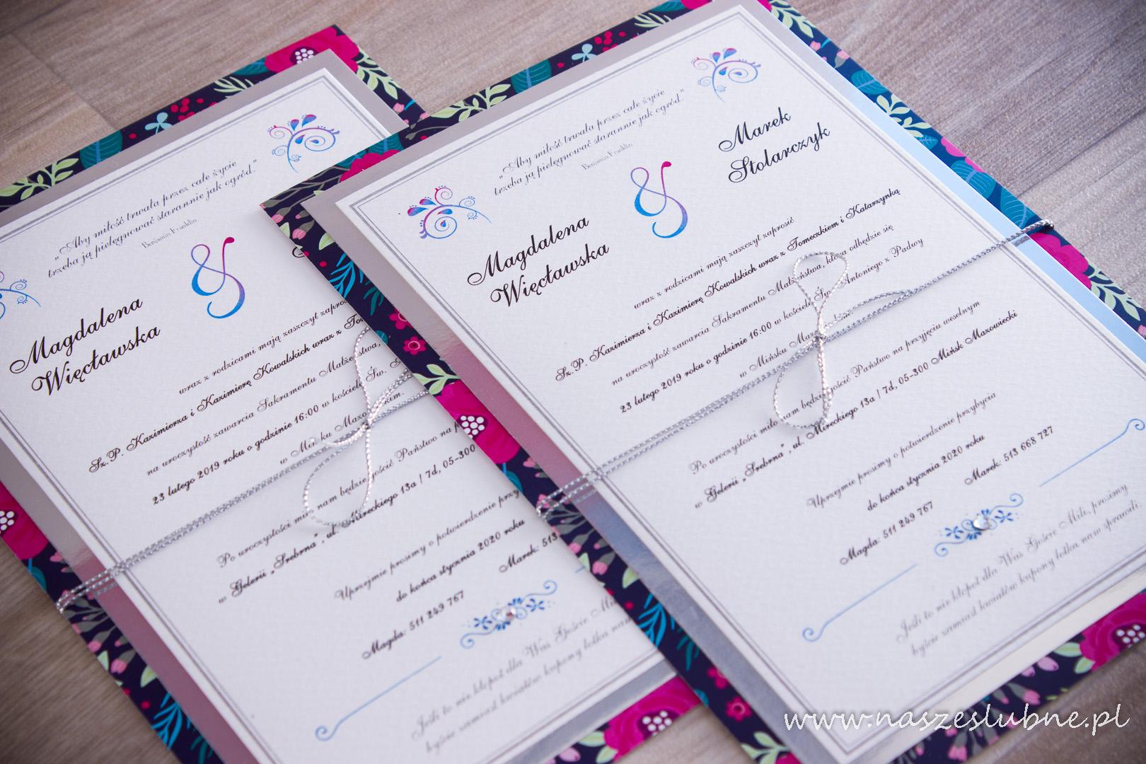 Zaproszenia ślubne – W KWIATY: wzór nr 5