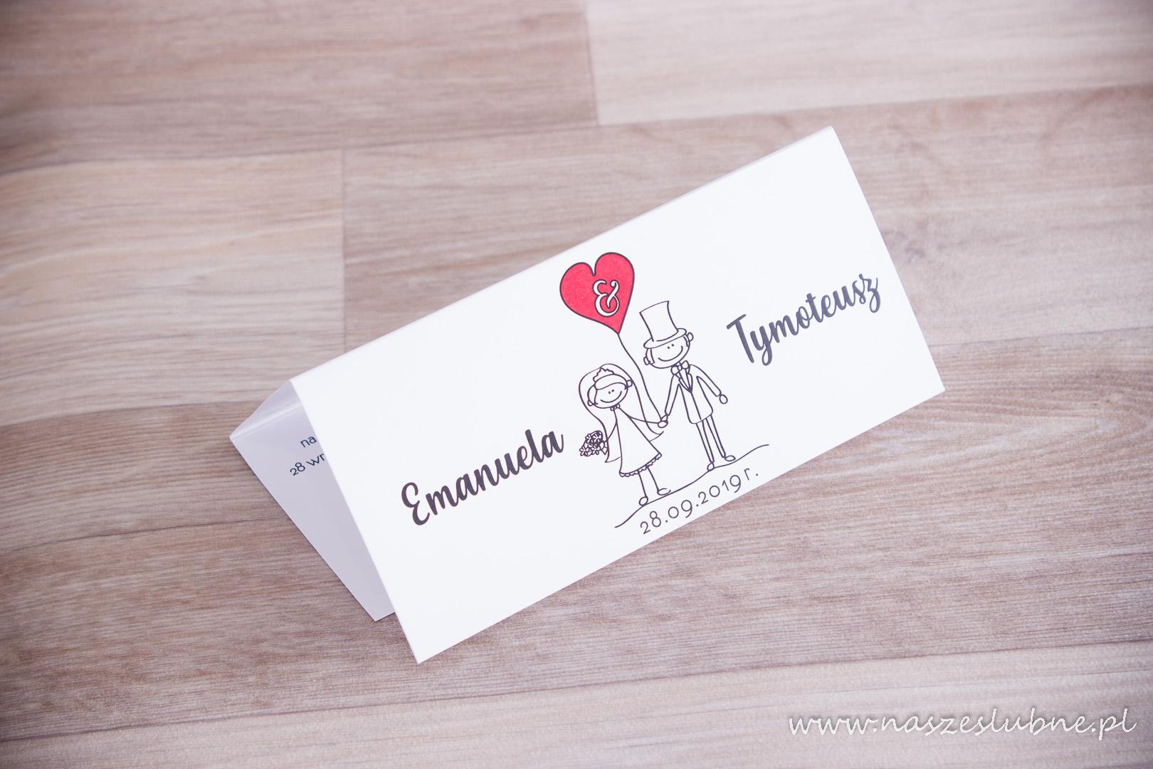 """Zaproszenia ślubne – KOMIKSOWE: wzór nr 2 """"A"""""""