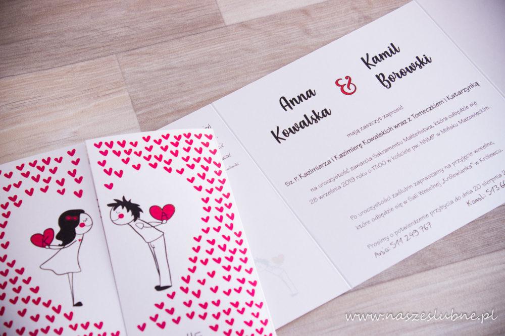 Zaproszenia ślubne - KOMIKSOWE: wzór nr 3