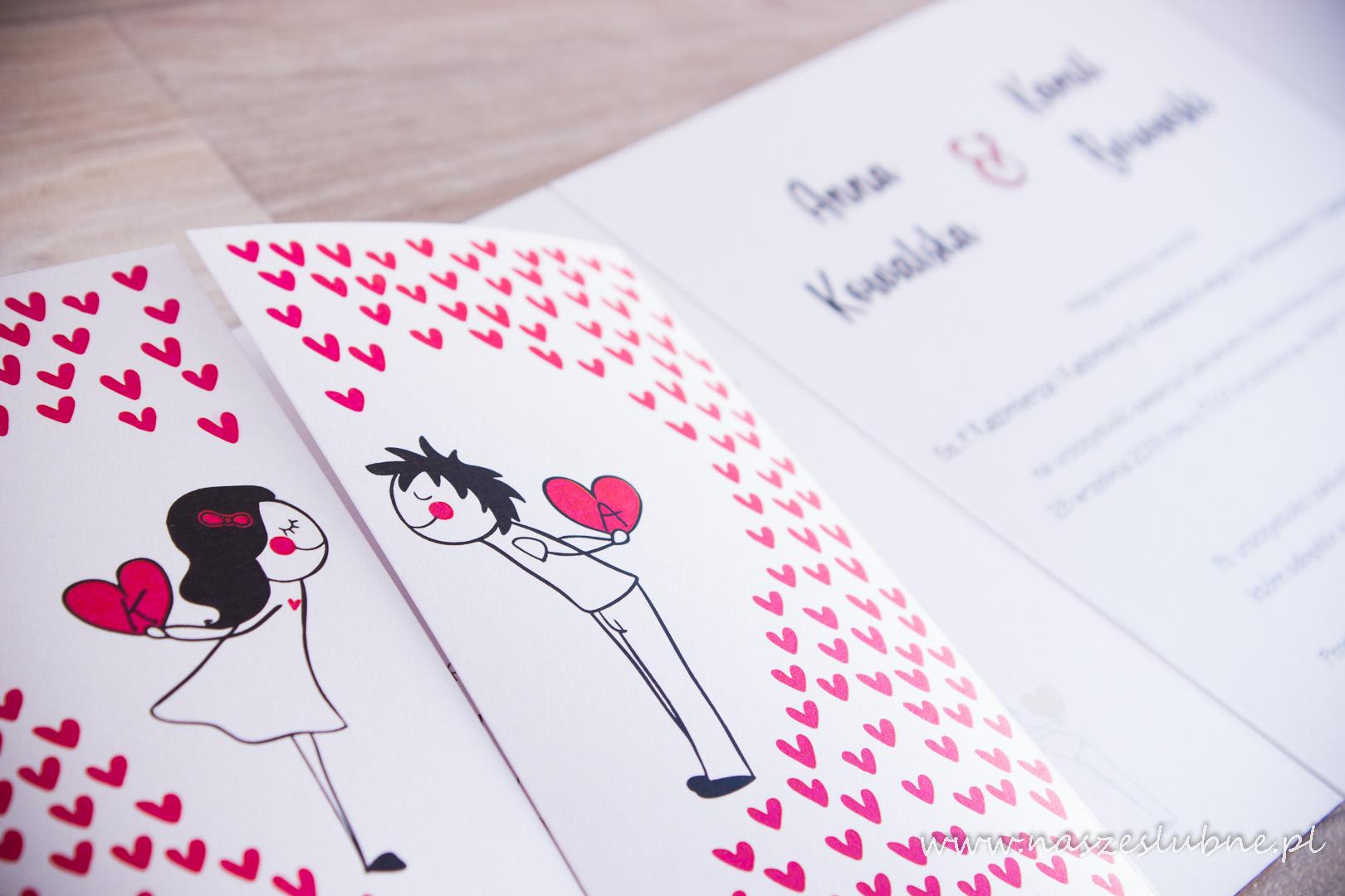 Zaproszenia ślubne – KOMIKSOWE: wzór nr 3