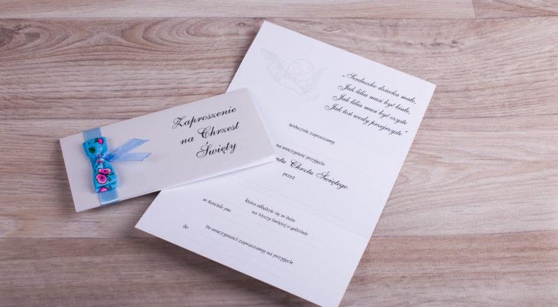 Zaproszenia na chrzest – do ręcznego wypisywania
