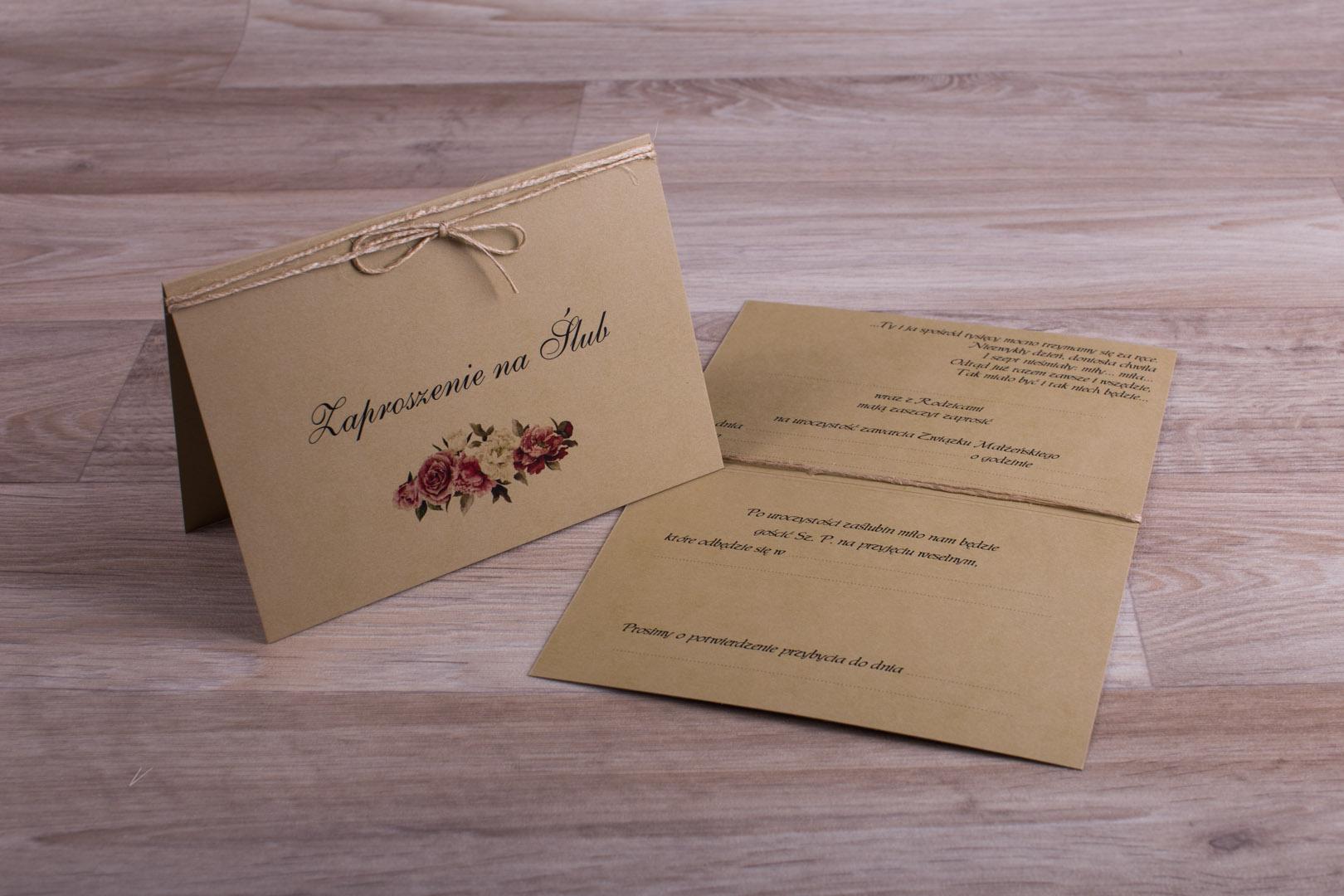 Zaproszenia ślubne - do ręcznego wypisywania