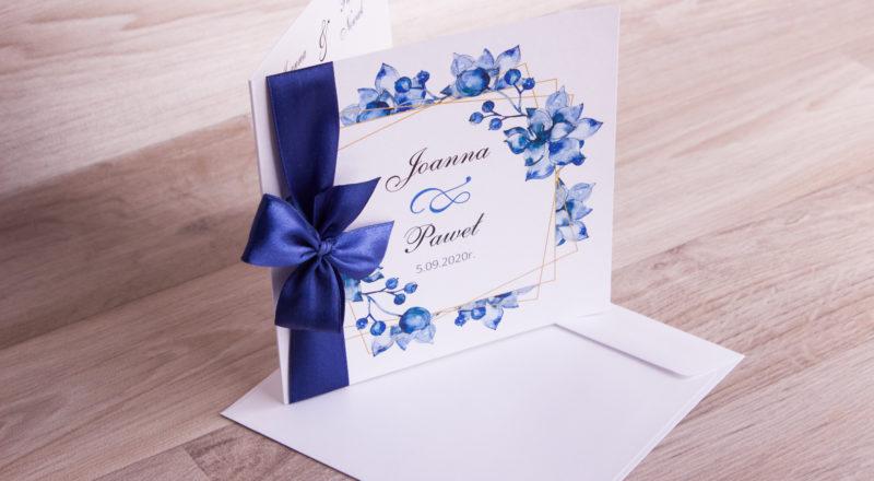 """Zaproszenia ślubne – W KWIATY: wzór nr 9 """"C"""""""