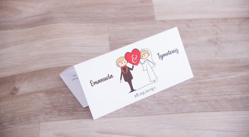 Zaproszenia ślubne – KOMIKSOWE: wzór nr 2