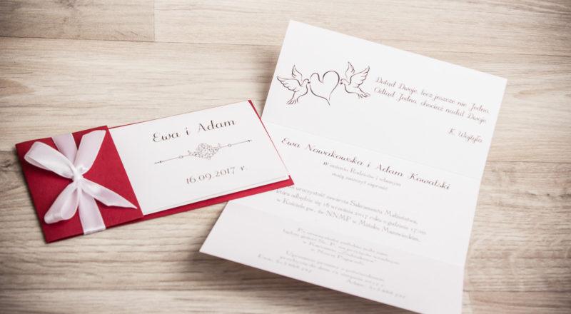 Zaproszenia ślubne – RÓŻNE: wzór nr 6
