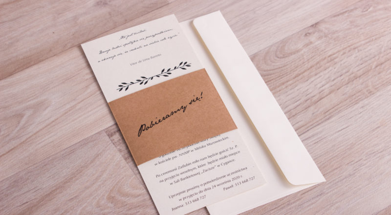 Zaproszenia ślubne – EKO: wzór nr 3