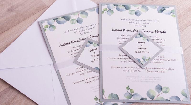 Zaproszenia ślubne – W KWIATY: wzór nr 8