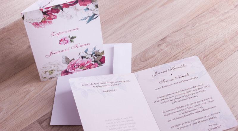 Zaproszenia ślubne – W KWIATY: wzór nr 10
