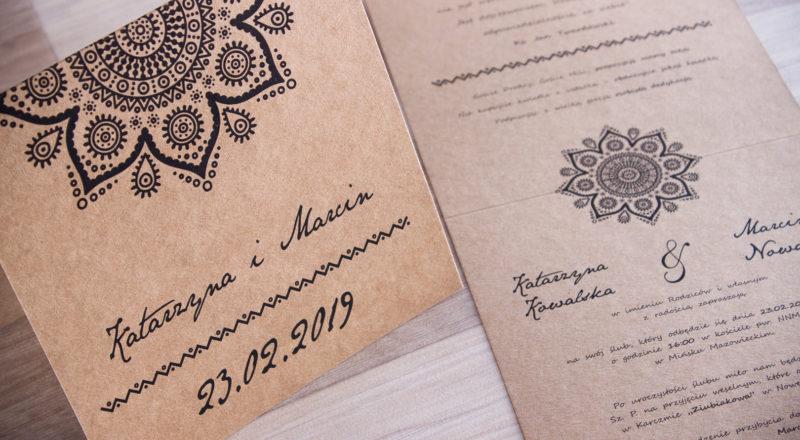 Zaproszenia ślubne – EKO: wzór nr 5