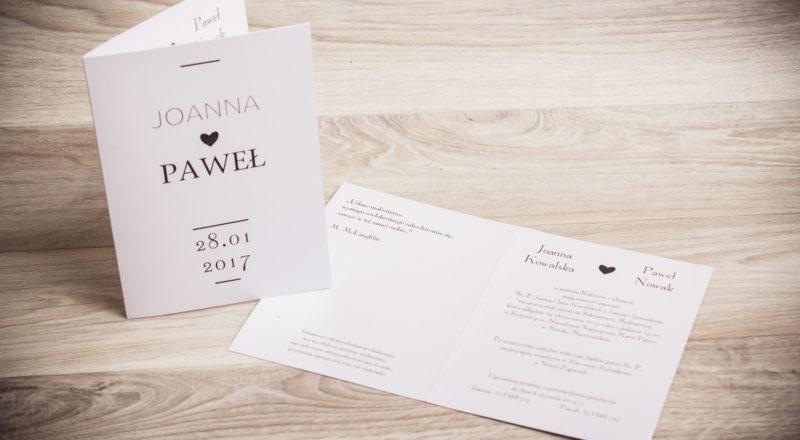 Zaproszenia ślubne – RÓŻNE: wzór nr 4