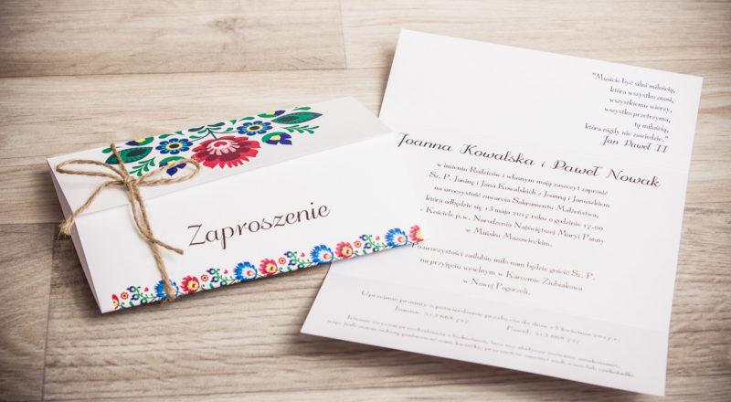 Zaproszenia ślubne – REGIONALNE: wzór nr 4